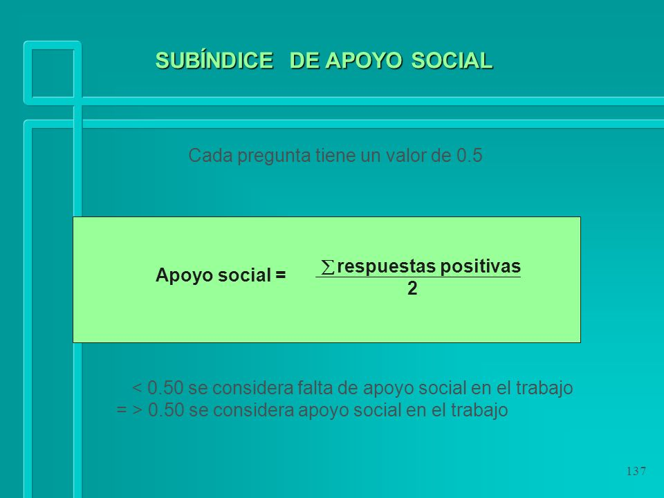 SUBÍNDICE DE APOYO SOCIAL