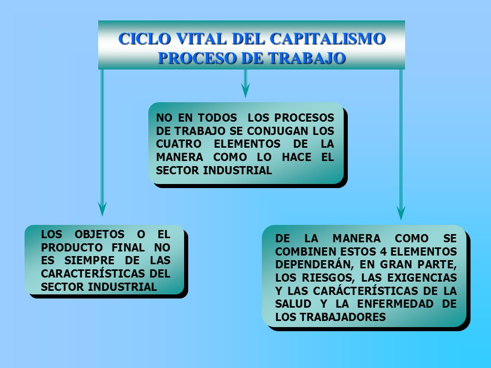 CICLO VITAL DEL CAPITALISMO PROCESO DE TRABAJO