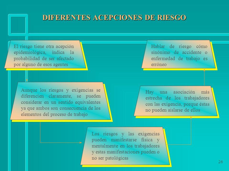 DIFERENTES ACEPCIONES DE RIESGO