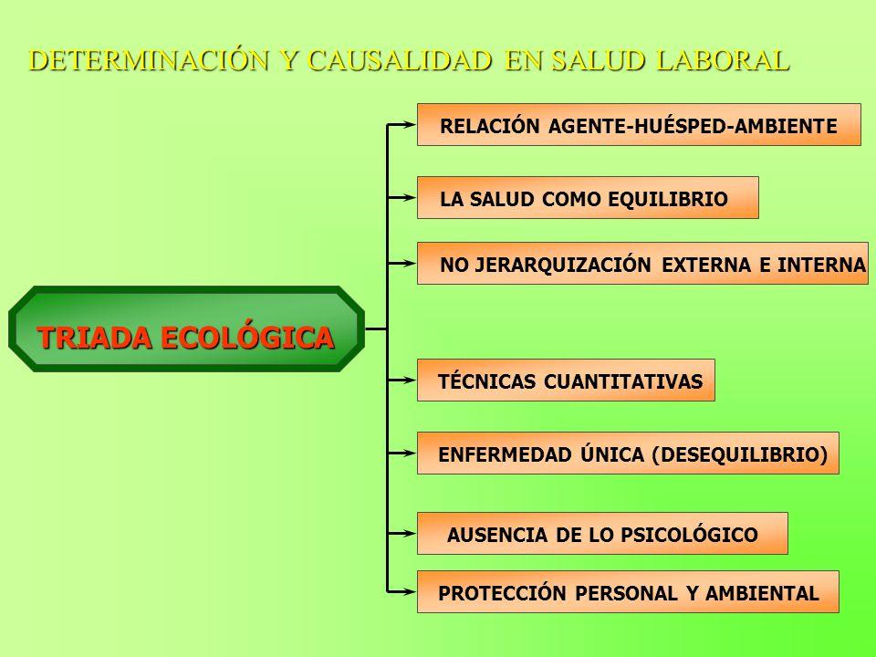 DETERMINACIÓN Y CAUSALIDAD EN SALUD LABORAL