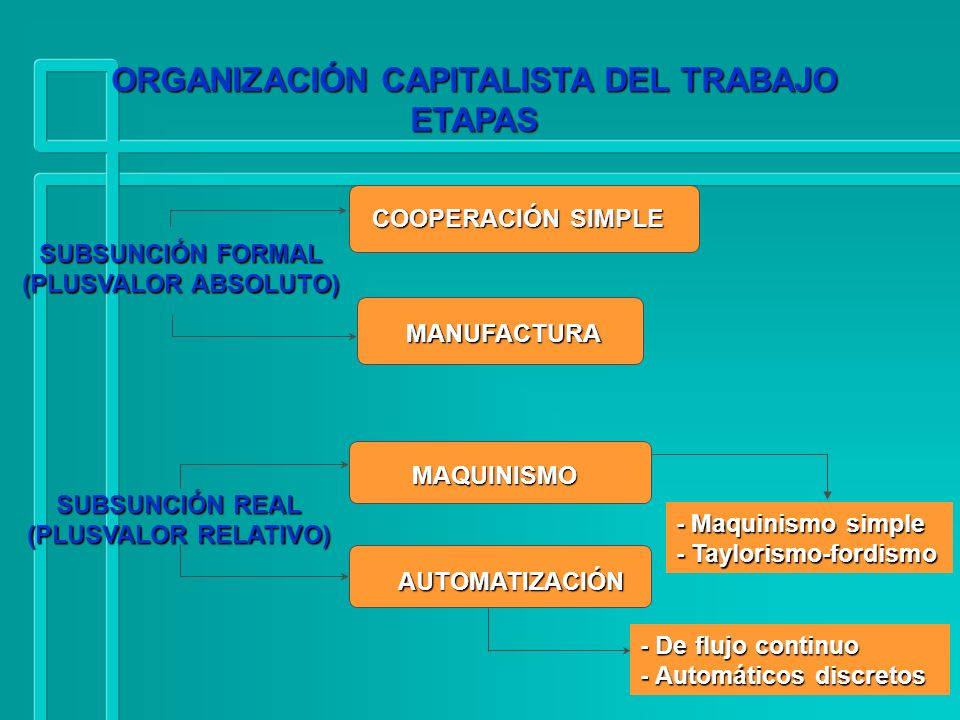 ORGANIZACIÓN CAPITALISTA DEL TRABAJO