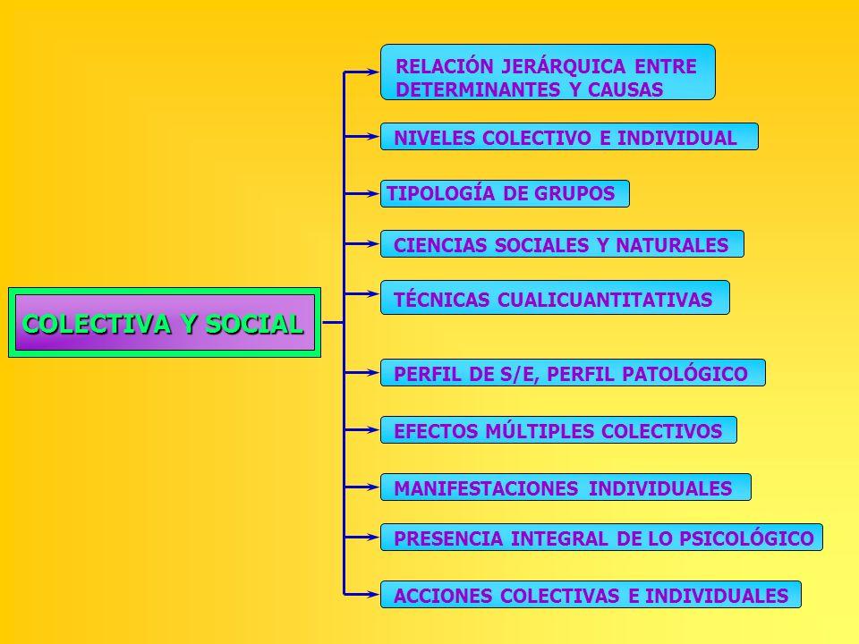 COLECTIVA Y SOCIAL RELACIÓN JERÁRQUICA ENTRE DETERMINANTES Y CAUSAS