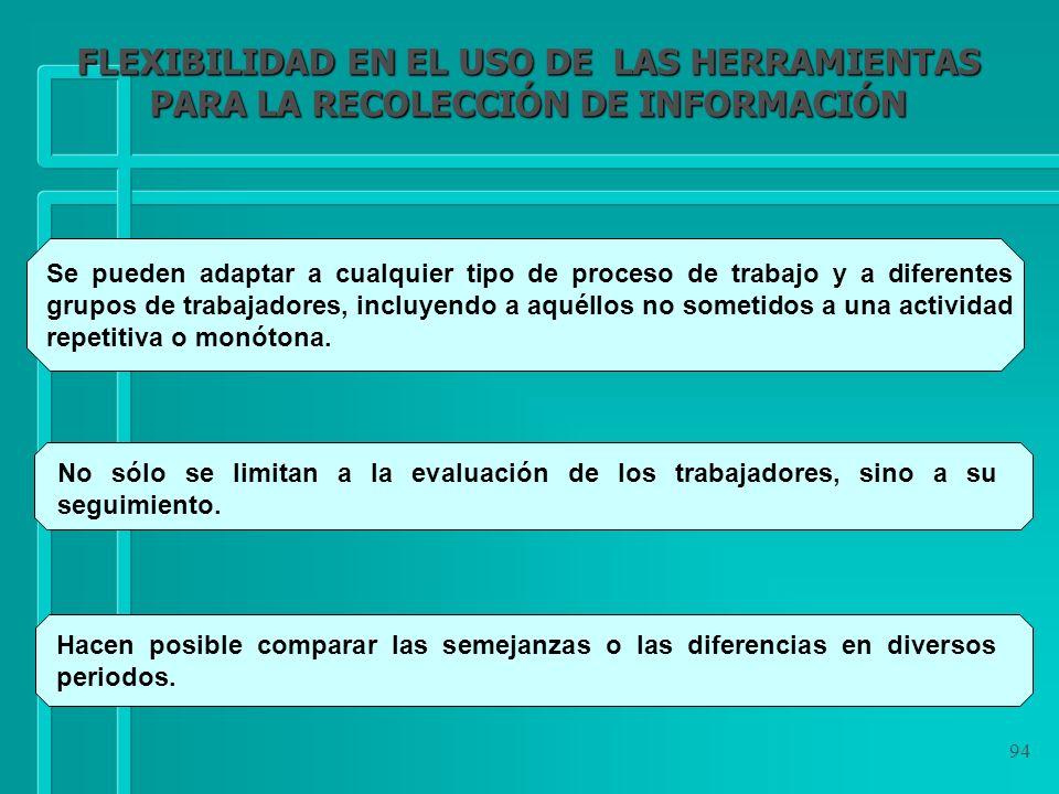 FLEXIBILIDAD EN EL USO DE LAS HERRAMIENTAS PARA LA RECOLECCIÓN DE INFORMACIÓN