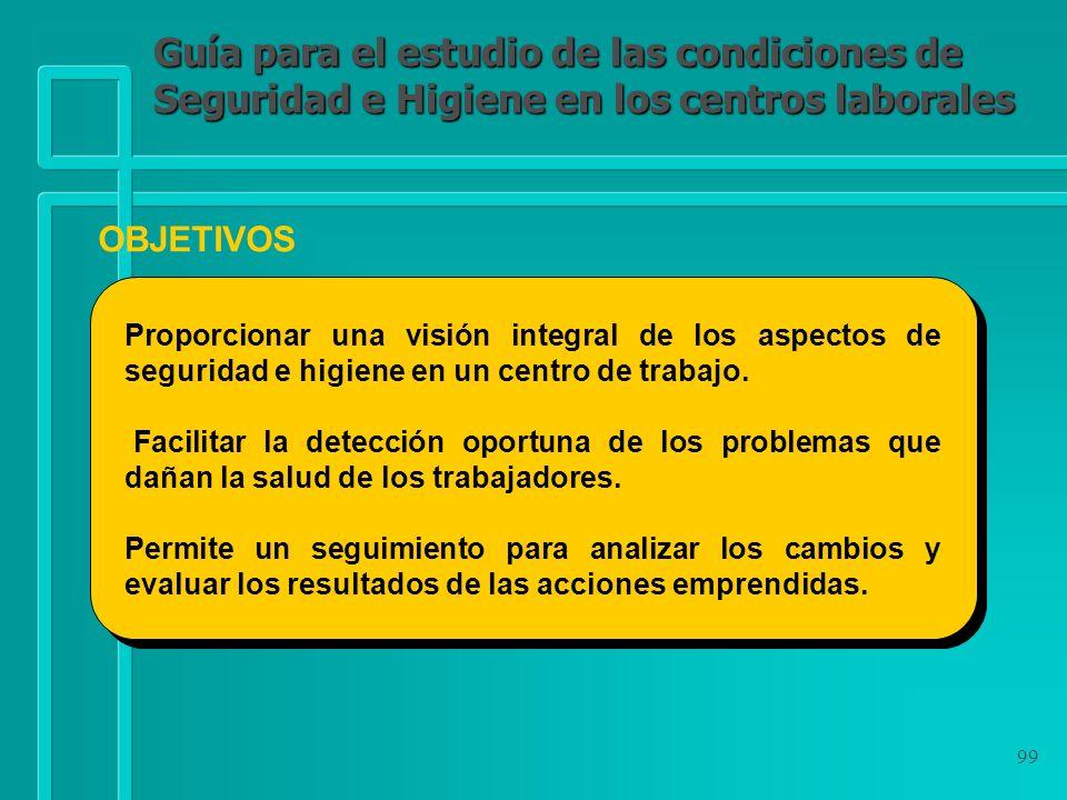 Guía para el estudio de las condiciones de Seguridad e Higiene en los centros laborales