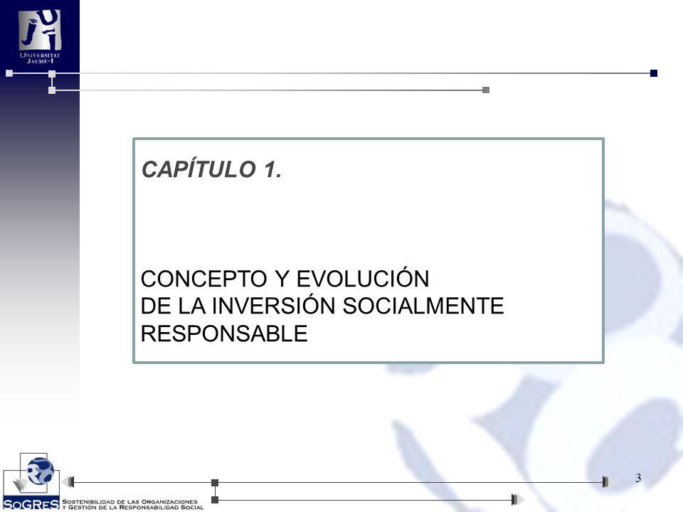 CAPÍTULO 1. CONCEPTO Y EVOLUCIÓN DE LA INVERSIÓN SOCIALMENTE RESPONSABLE