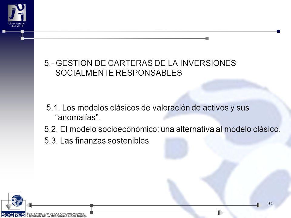 5. - GESTION DE CARTERAS DE LA INVERSIONES SOCIALMENTE RESPONSABLES 5