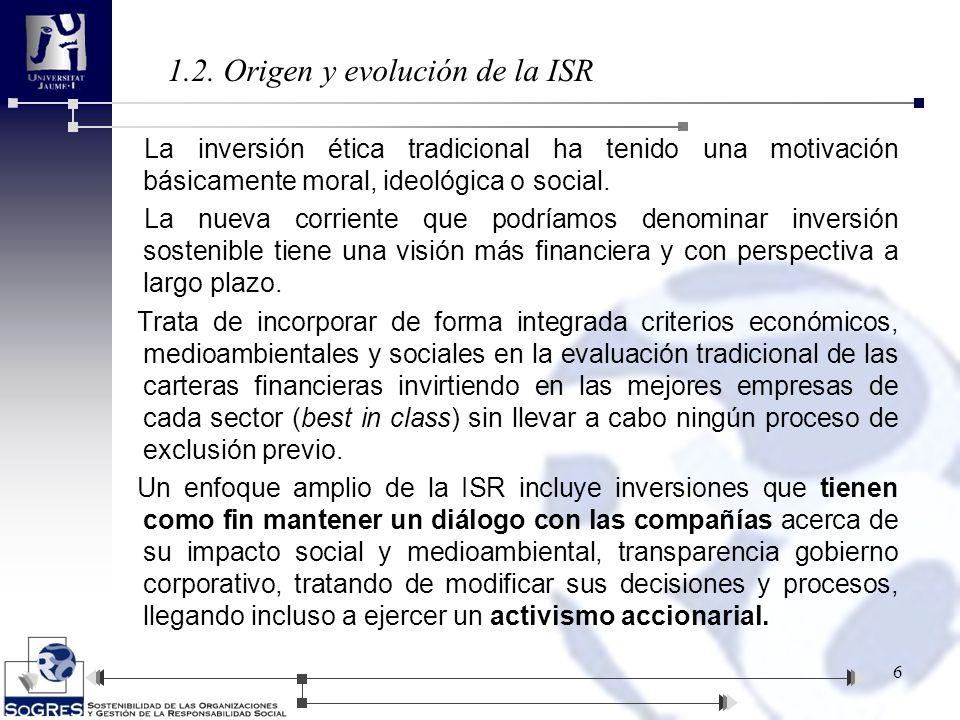 1.2. Origen y evolución de la ISR