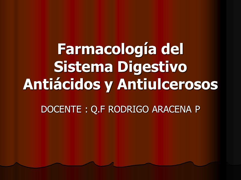 Farmacología del Sistema Digestivo Antiácidos y Antiulcerosos