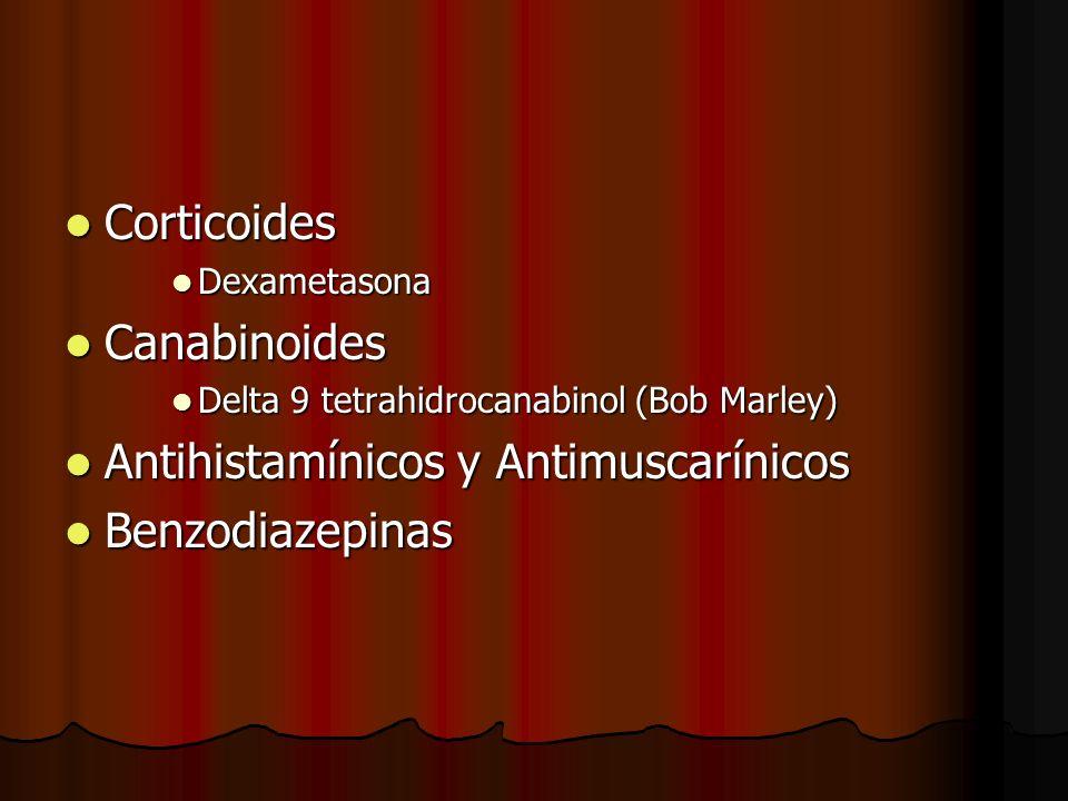 Antihistamínicos y Antimuscarínicos Benzodiazepinas