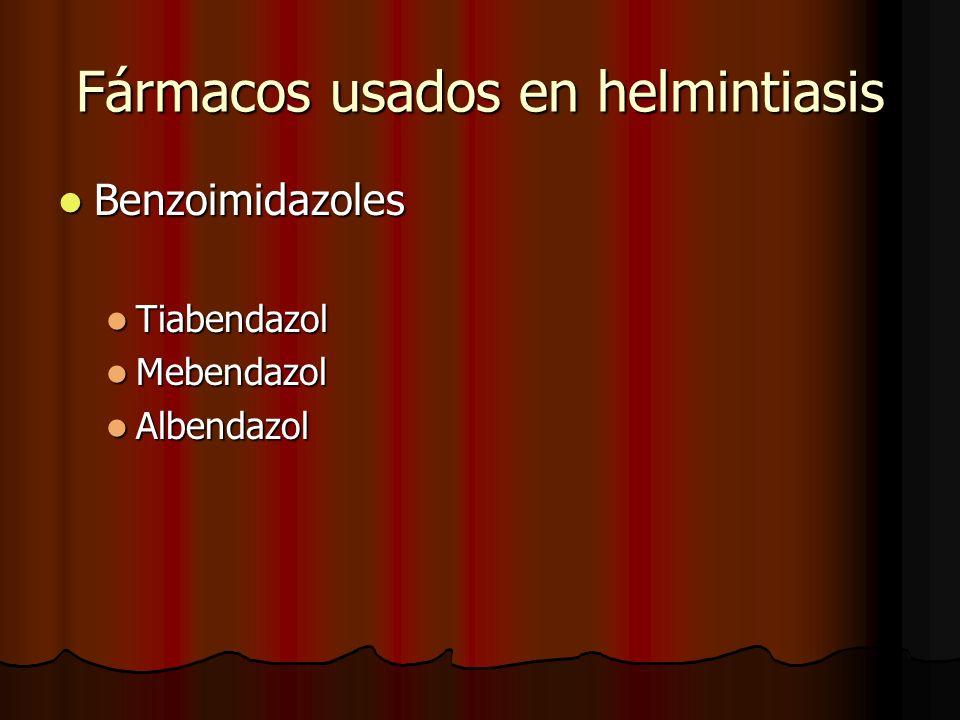 Fármacos usados en helmintiasis