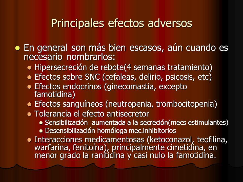 Principales efectos adversos
