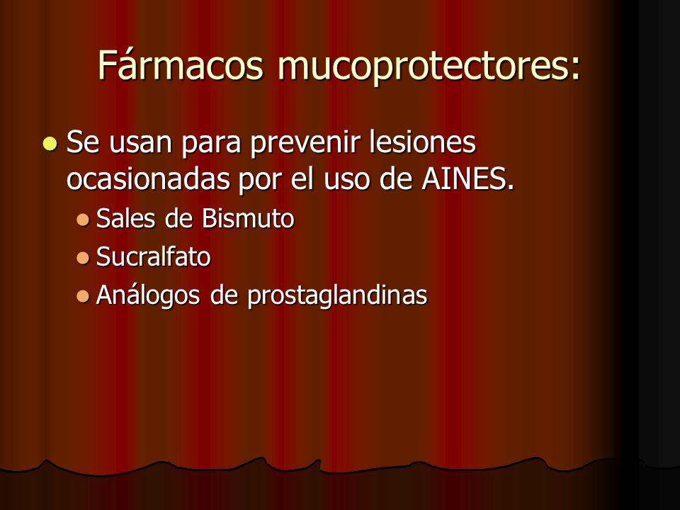 Fármacos mucoprotectores: