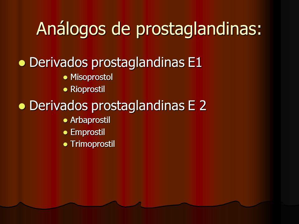 Análogos de prostaglandinas: