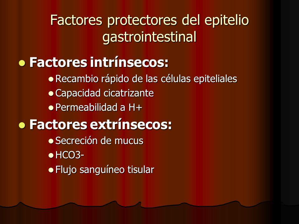 Factores protectores del epitelio gastrointestinal