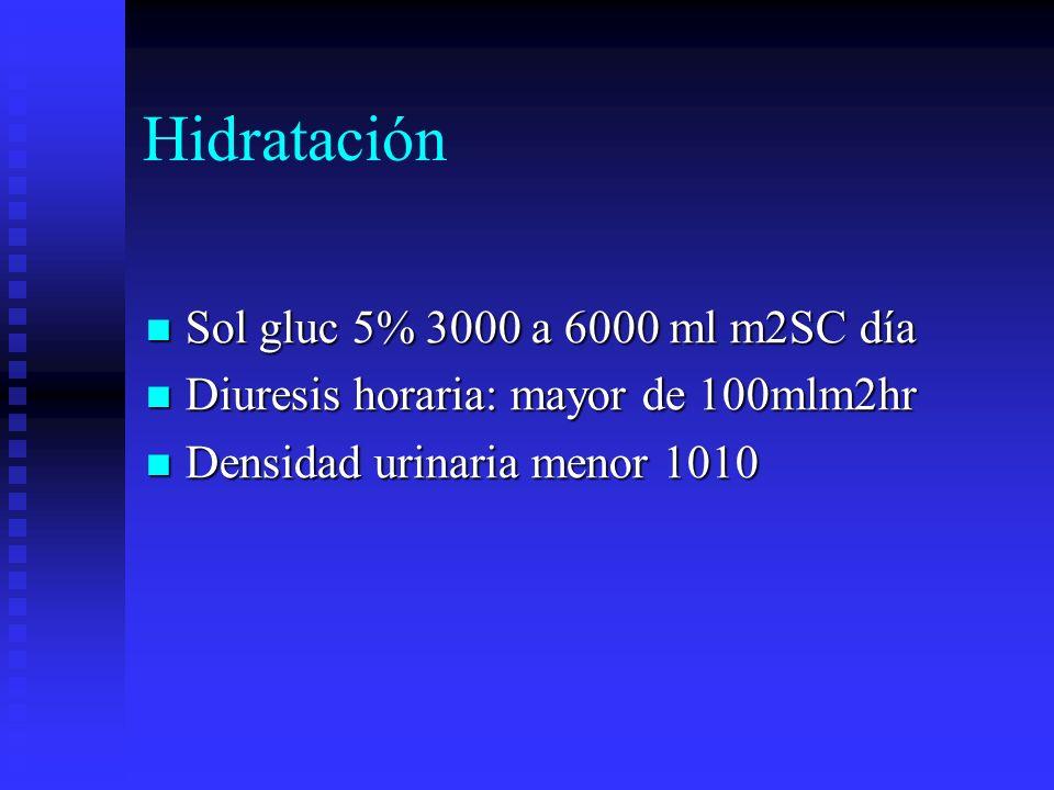 Hidratación Sol gluc 5% 3000 a 6000 ml m2SC día