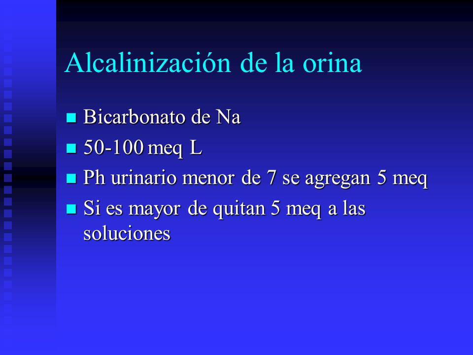 Alcalinización de la orina