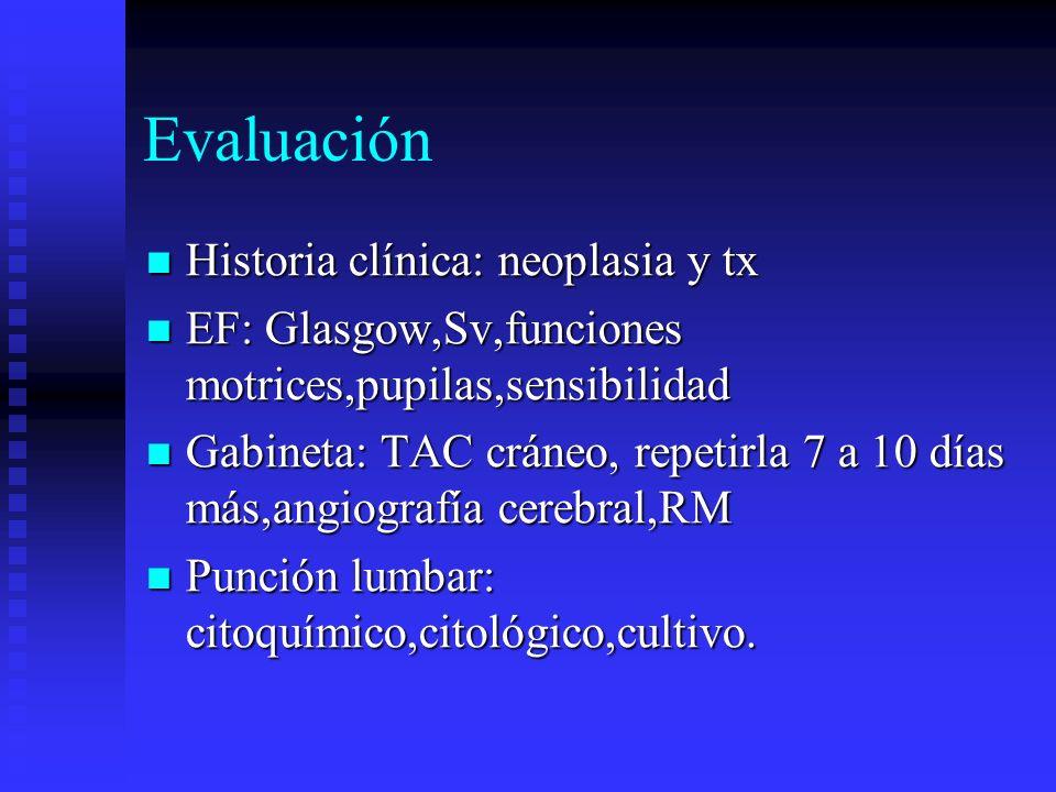 Evaluación Historia clínica: neoplasia y tx