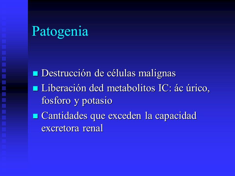Patogenia Destrucción de células malignas