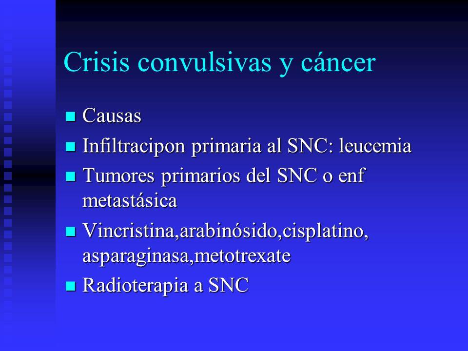 Crisis convulsivas y cáncer