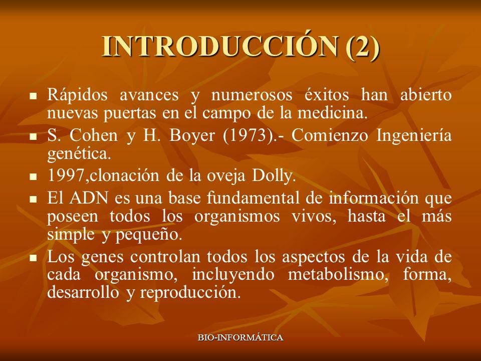 INTRODUCCIÓN (2) Rápidos avances y numerosos éxitos han abierto nuevas puertas en el campo de la medicina.