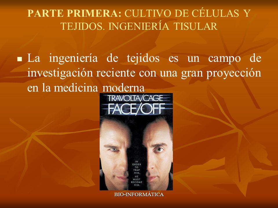 PARTE PRIMERA: CULTIVO DE CÉLULAS Y TEJIDOS. INGENIERÍA TISULAR