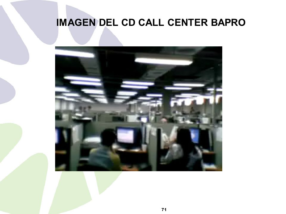 IMAGEN DEL CD CALL CENTER BAPRO