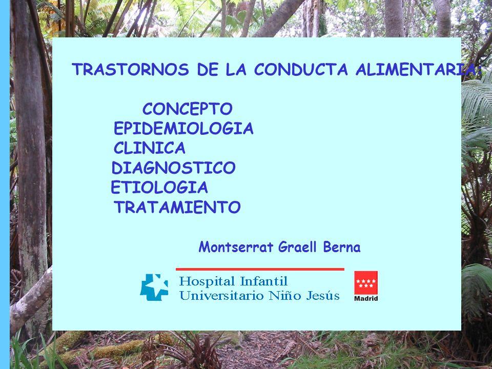TRASTORNOS DE LA CONDUCTA ALIMENTARIA EPIDEMIOLOGIA