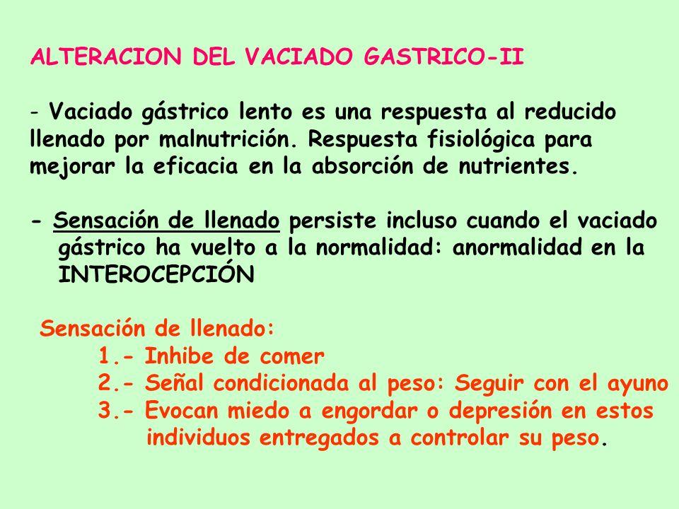 ALTERACION DEL VACIADO GASTRICO-II