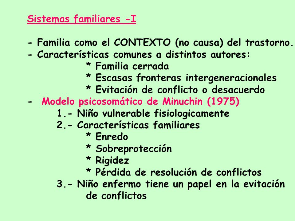 Sistemas familiares -I