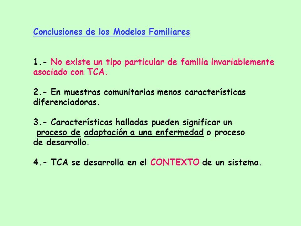 Conclusiones de los Modelos Familiares