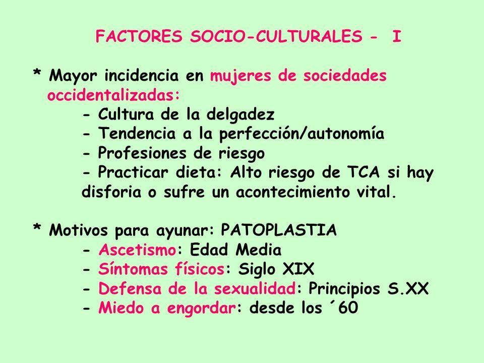 FACTORES SOCIO-CULTURALES - I