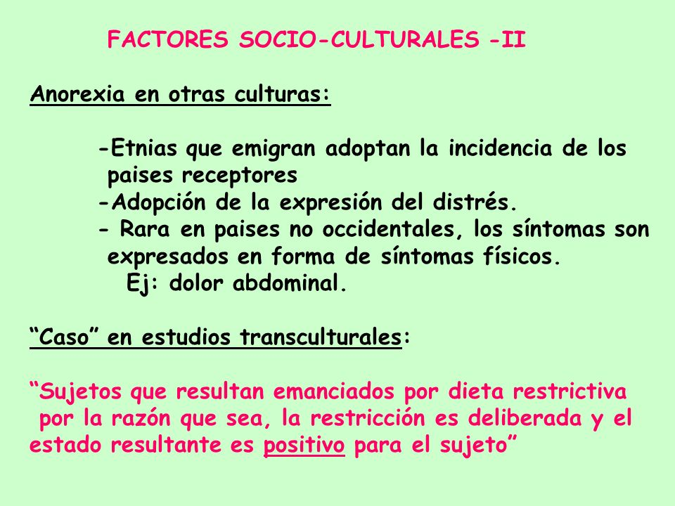FACTORES SOCIO-CULTURALES -II