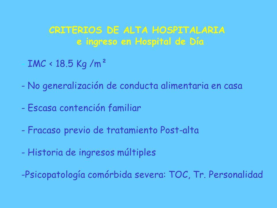 CRITERIOS DE ALTA HOSPITALARIA