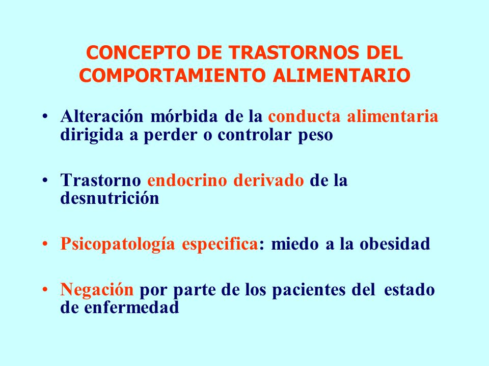 Resultado de imagen de mecanismos psicopatologicos comunes en los trastornos de conducta alimentaria