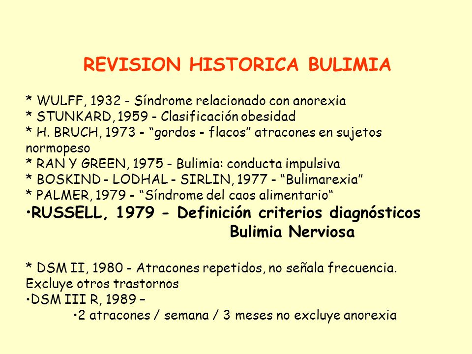 REVISION HISTORICA BULIMIA