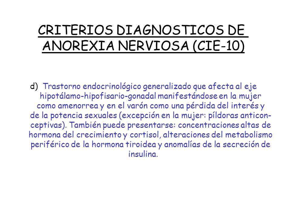 CRITERIOS DIAGNOSTICOS DE ANOREXIA NERVIOSA (CIE-10)