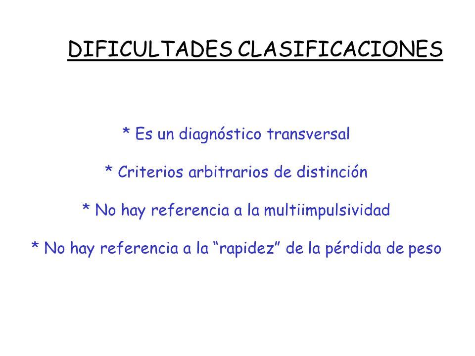 DIFICULTADES CLASIFICACIONES