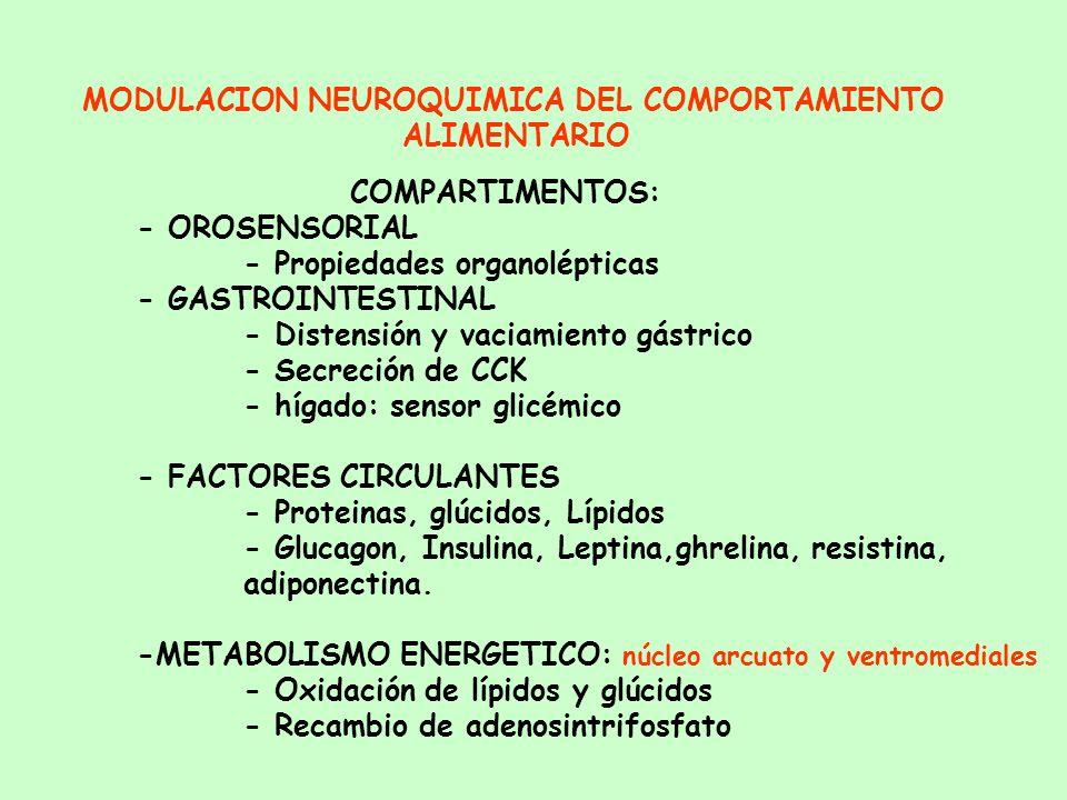 MODULACION NEUROQUIMICA DEL COMPORTAMIENTO ALIMENTARIO