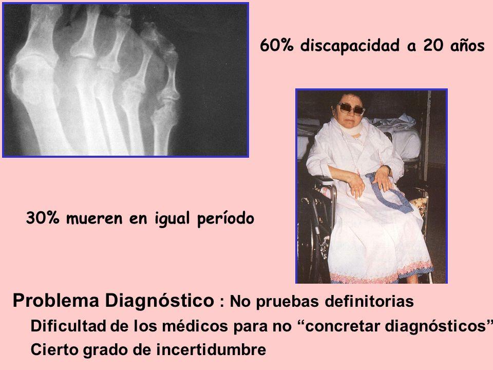 Problema Diagnóstico : No pruebas definitorias