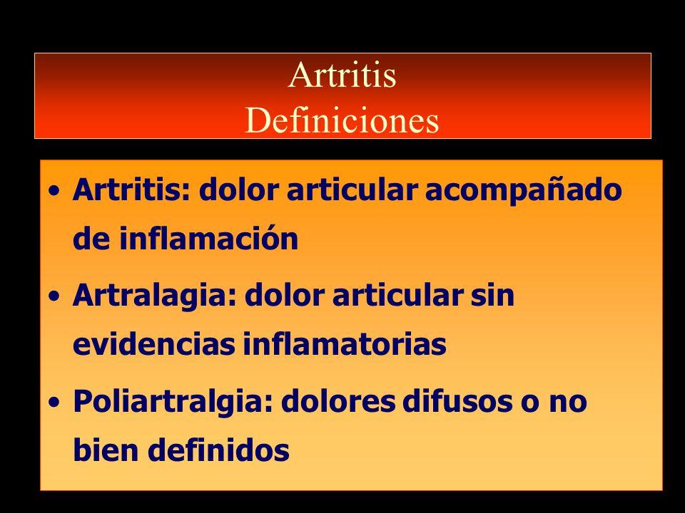 Artritis Definiciones