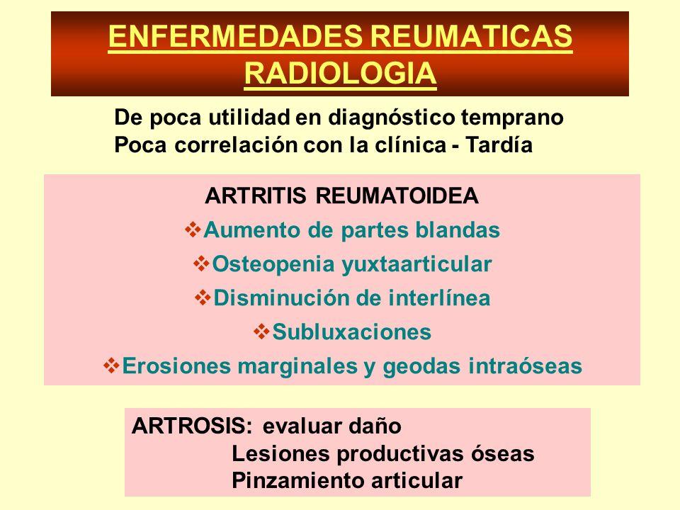 ENFERMEDADES REUMATICAS RADIOLOGIA