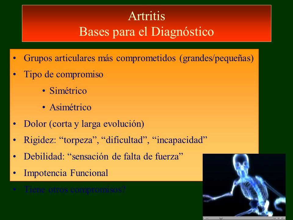 Artritis Bases para el Diagnóstico