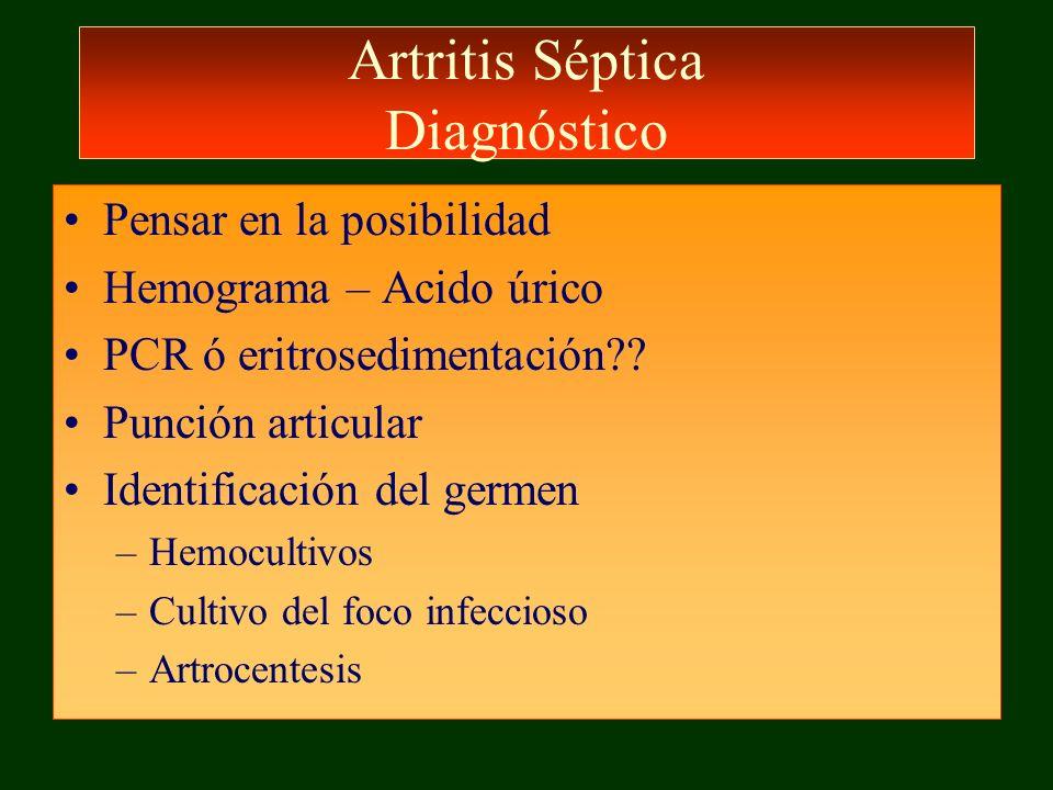 Artritis Séptica Diagnóstico