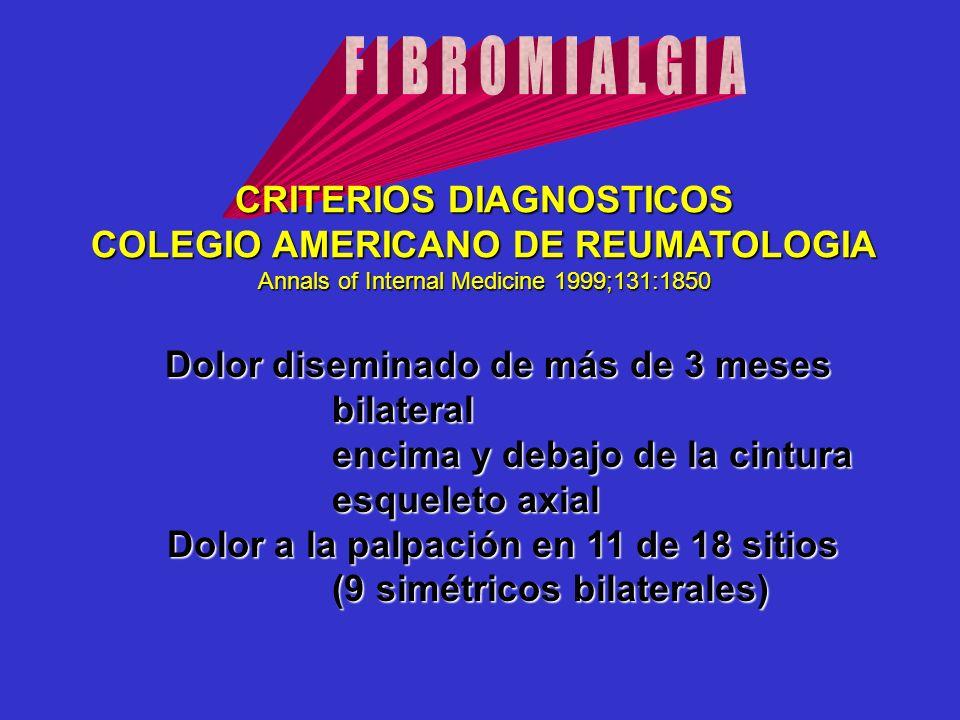 CRITERIOS DIAGNOSTICOS COLEGIO AMERICANO DE REUMATOLOGIA