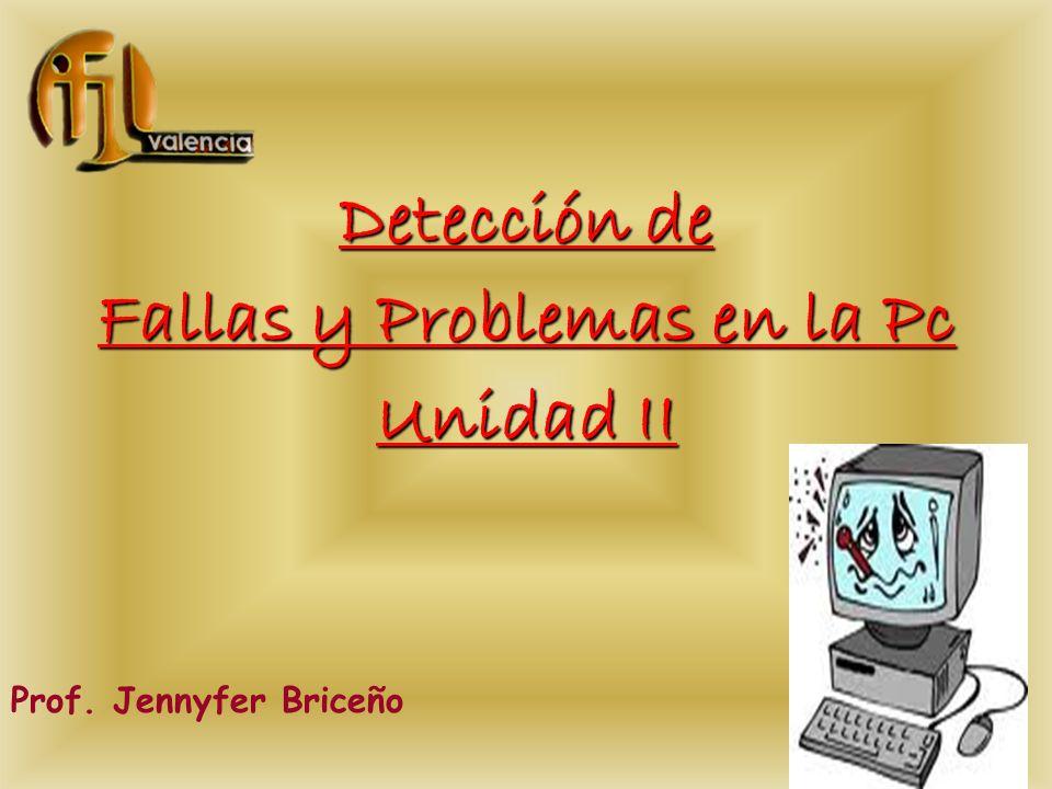 Fallas y Problemas en la Pc