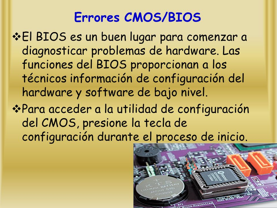 Errores CMOS/BIOS
