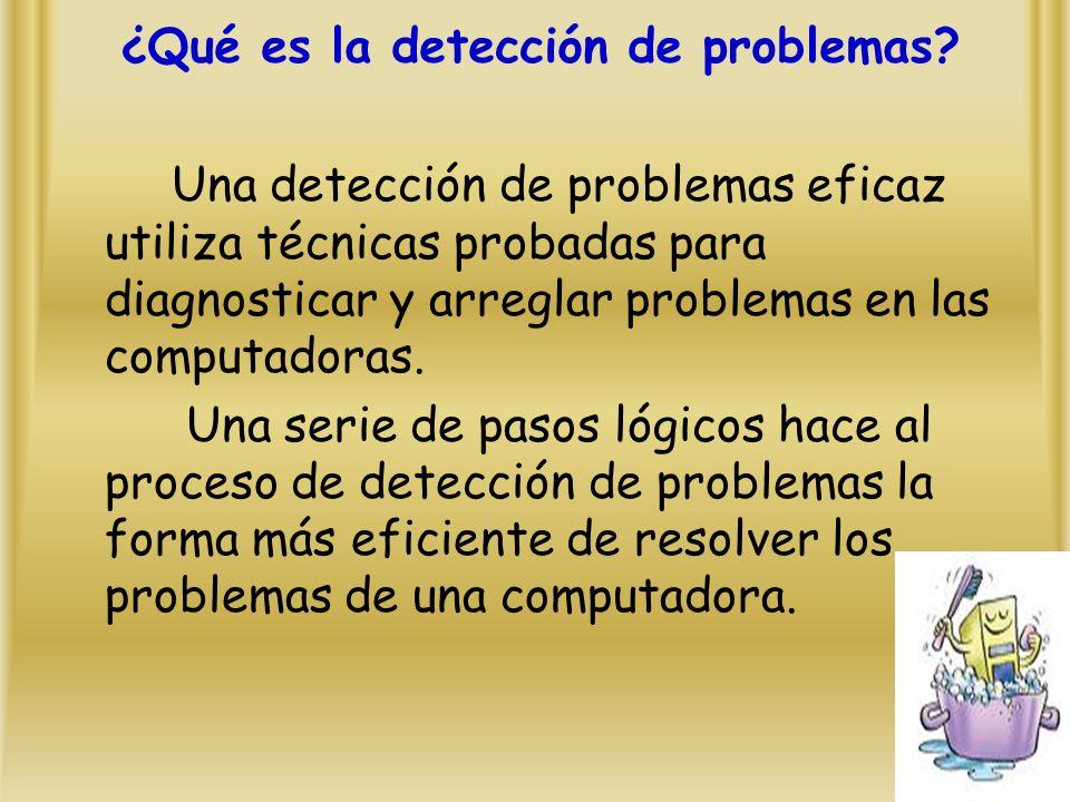 ¿Qué es la detección de problemas