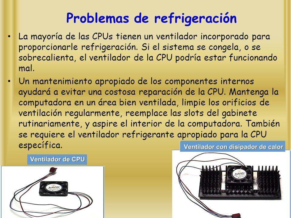 Problemas de refrigeración