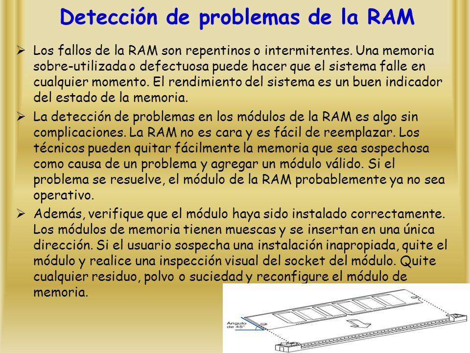 Detección de problemas de la RAM