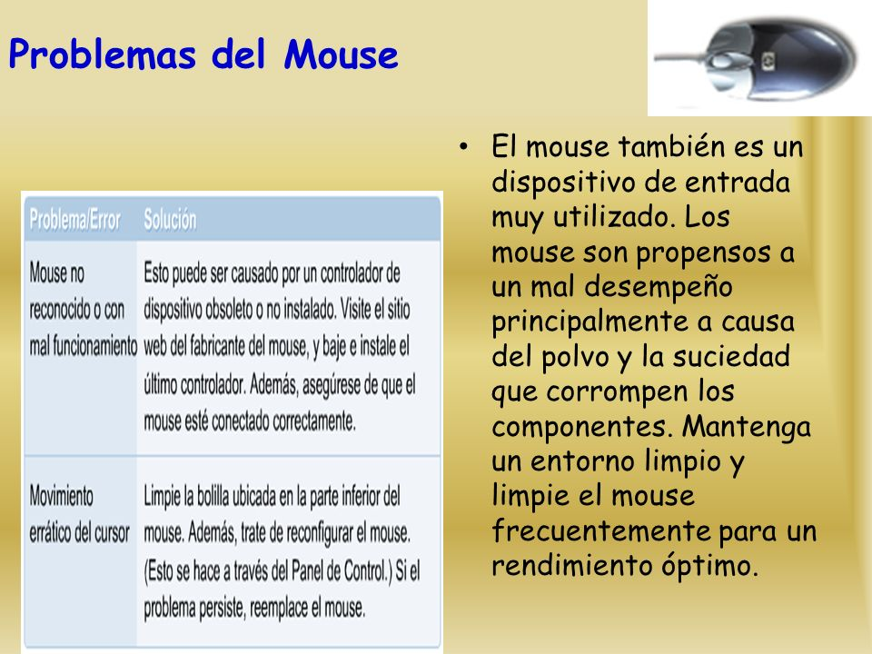 Problemas del Mouse